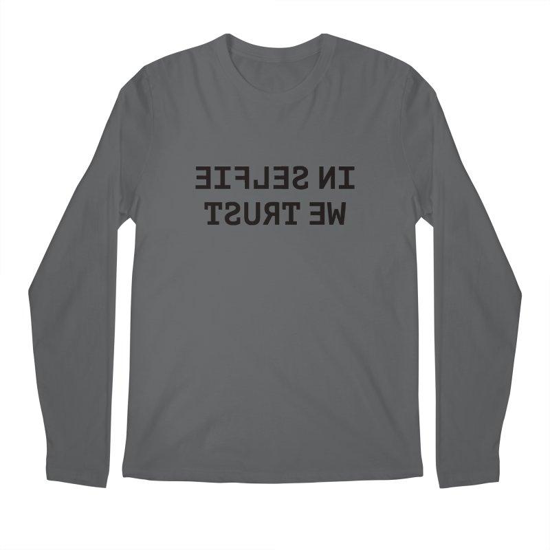 In Selfie We Trust Men's Regular Longsleeve T-Shirt by Elefunfunt