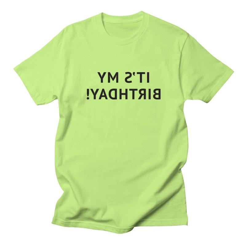 It's My Birthday! Men's Regular T-Shirt by Elefunfunt