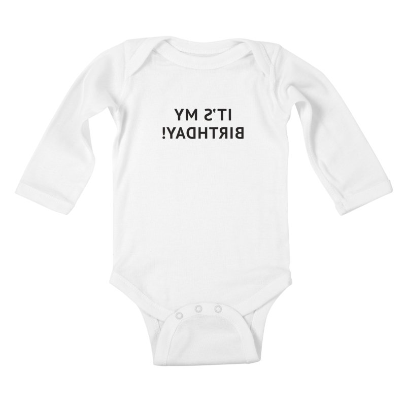 It's My Birthday! Kids Baby Longsleeve Bodysuit by Elefunfunt