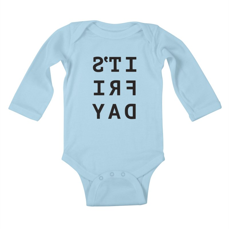 It's Friday Kids Baby Longsleeve Bodysuit by Elefunfunt