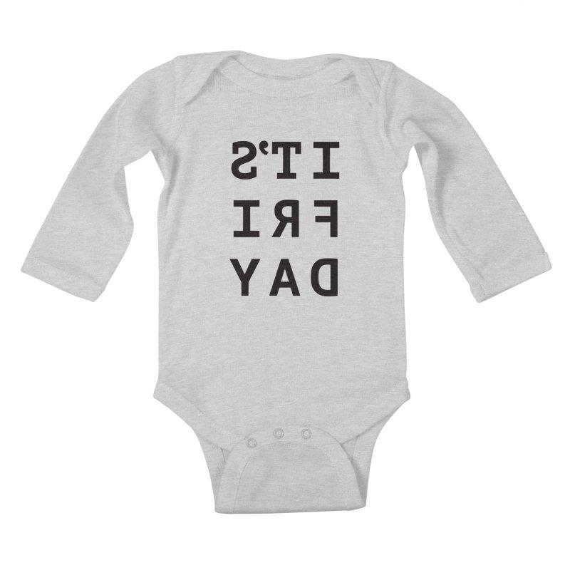 It's Friday Kids Baby Longsleeve Bodysuit by Elefunfunt