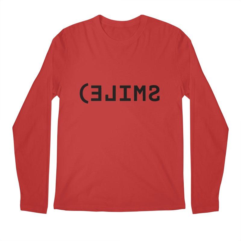 Smile Men's Regular Longsleeve T-Shirt by Elefunfunt