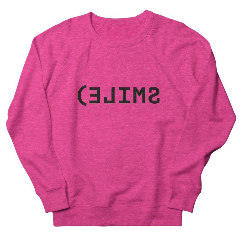 Smile Men's French Terry Sweatshirt by Elefunfunt