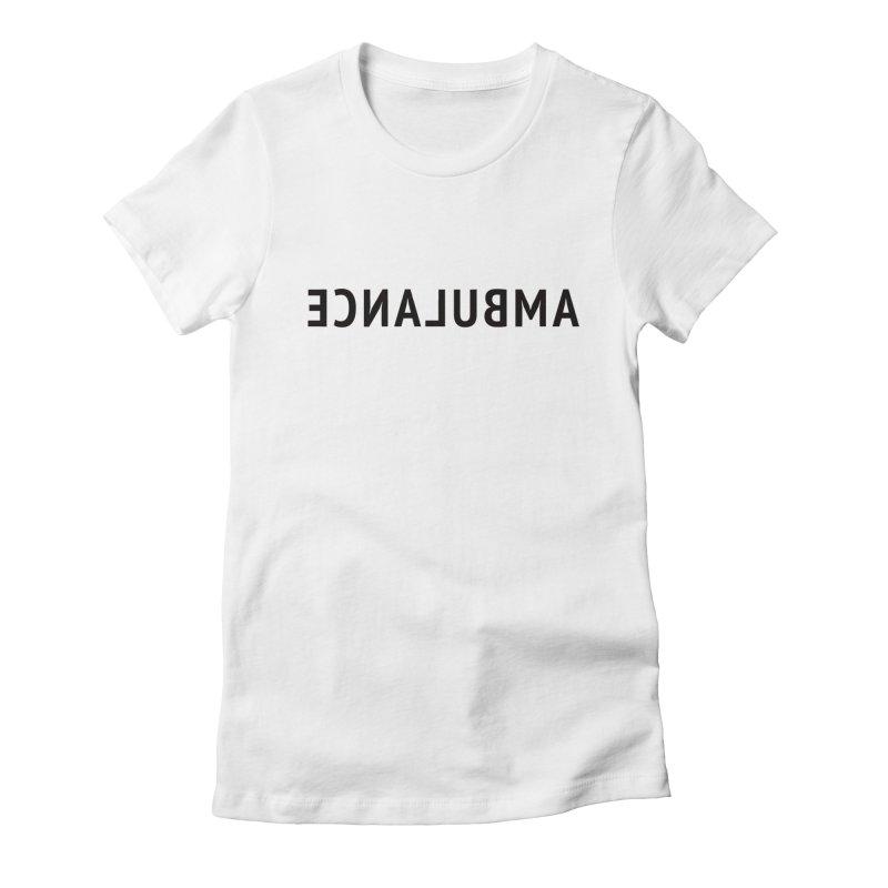 Ambulance Women's Fitted T-Shirt by Elefunfunt