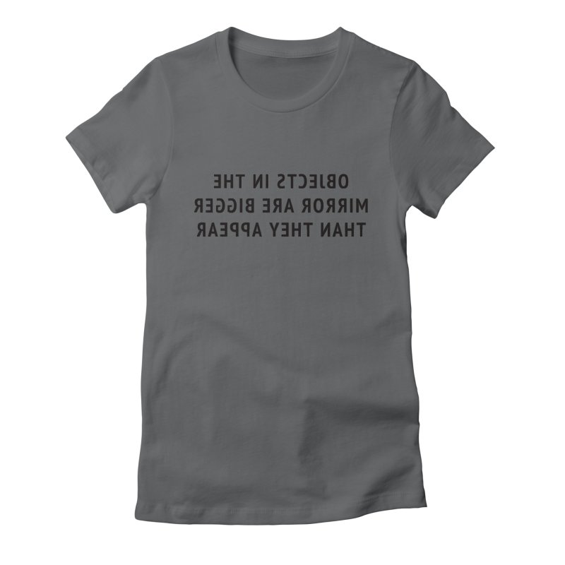 Objects are bigger (women's only) Women's Fitted T-Shirt by Elefunfunt