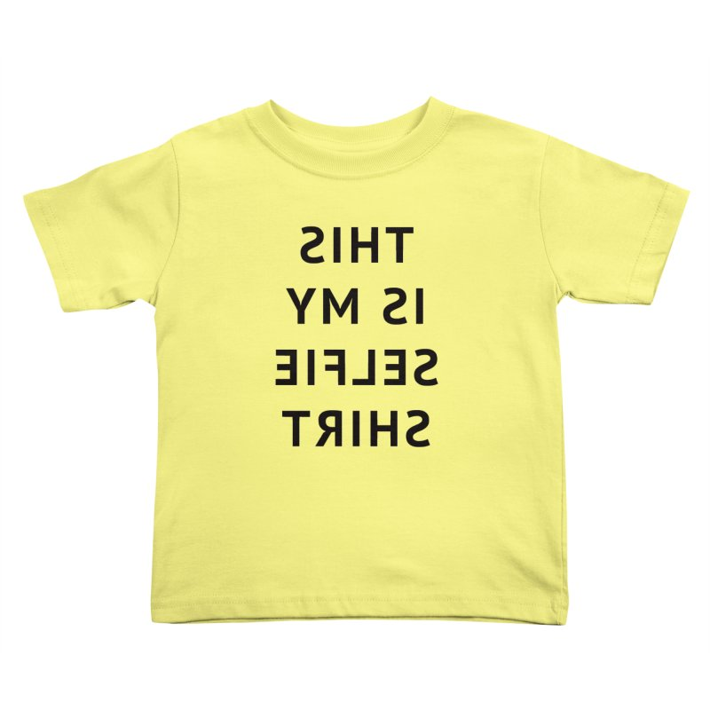 This Is My Selfie Shirt Kids Toddler T-Shirt by Elefunfunt