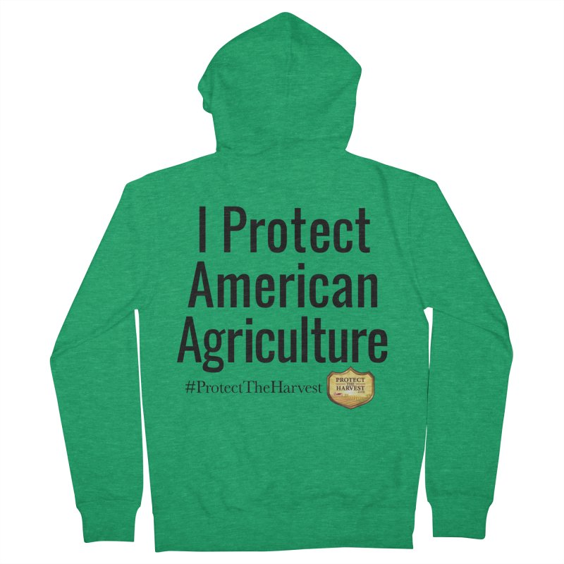 I Protect American Agriculture Men's Zip-Up Hoody by Protect The Harvest