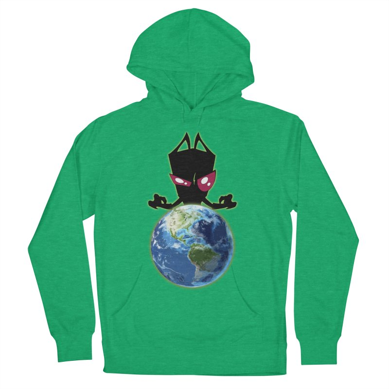 Invader from Planet Irk Men's French Terry Pullover Hoody by proxishdesigns's Artist Shop