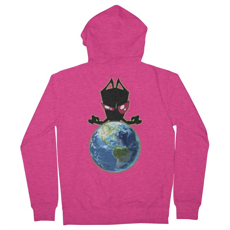 Invader from Planet Irk Women's French Terry Zip-Up Hoody by proxishdesigns's Artist Shop