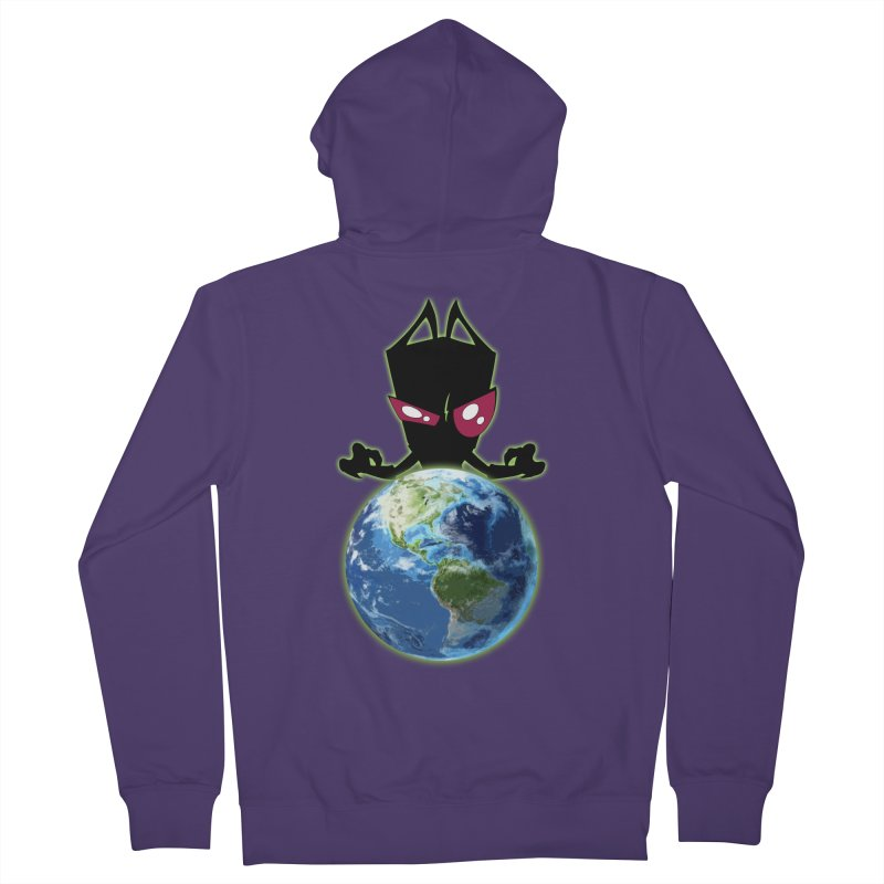Invader from Planet Irk Women's Zip-Up Hoody by proxishdesigns's Artist Shop