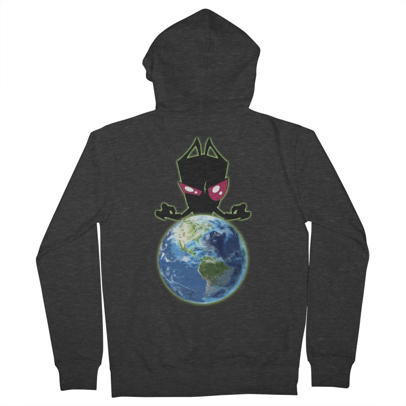 Invader from Planet Irk Men's Zip-Up Hoody by proxishdesigns's Artist Shop