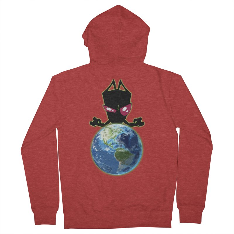 Invader from Planet Irk Men's French Terry Zip-Up Hoody by proxishdesigns's Artist Shop