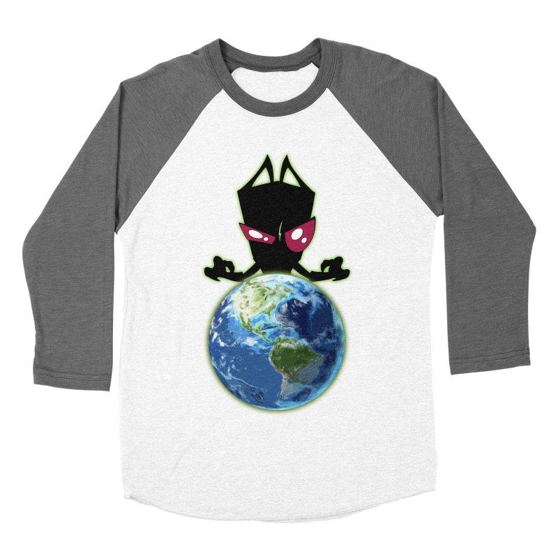Invader from Planet Irk Women's Baseball Triblend Longsleeve T-Shirt by proxishdesigns's Artist Shop
