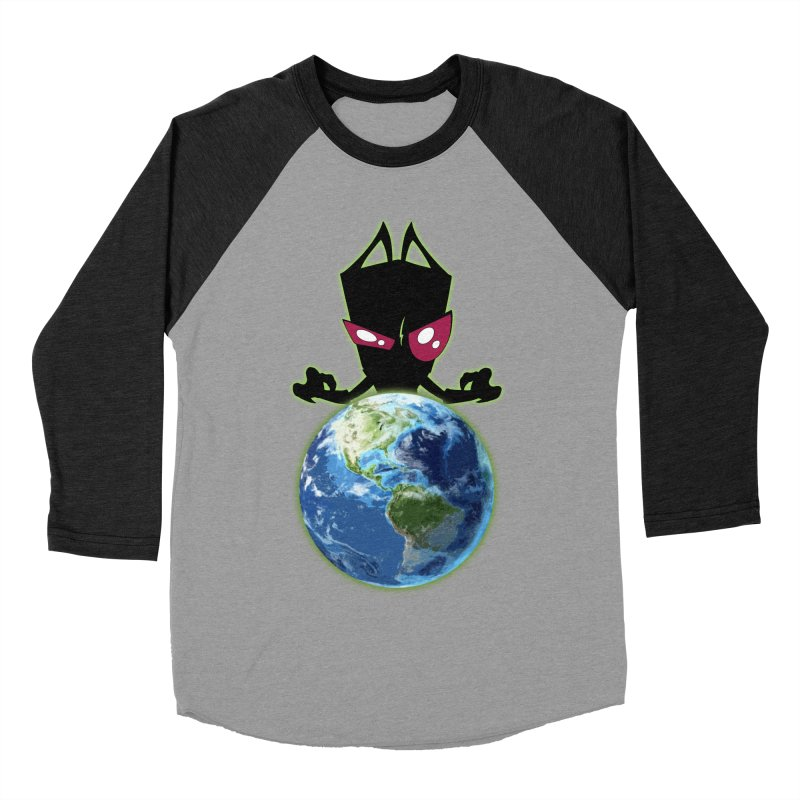 Invader from Planet Irk Women's Baseball Triblend T-Shirt by proxishdesigns's Artist Shop