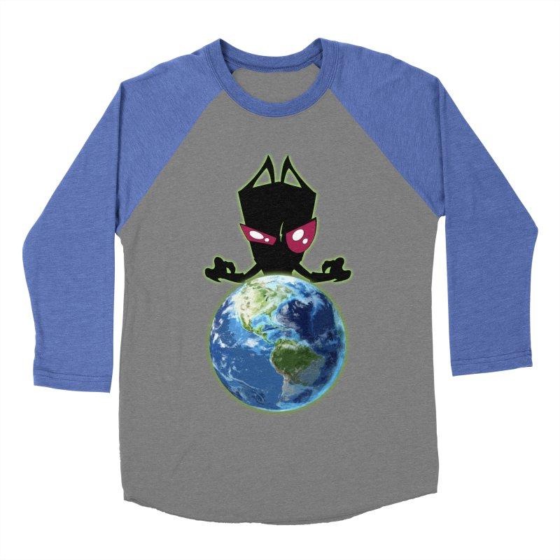 Invader from Planet Irk Men's Baseball Triblend Longsleeve T-Shirt by proxishdesigns's Artist Shop