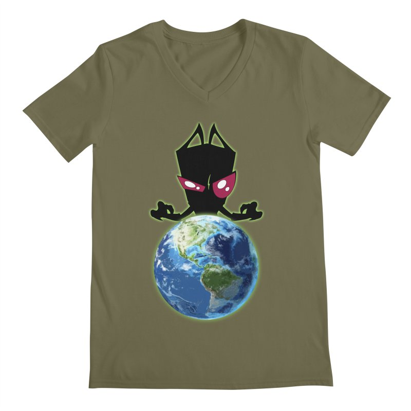 Invader from Planet Irk Men's V-Neck by proxishdesigns's Artist Shop