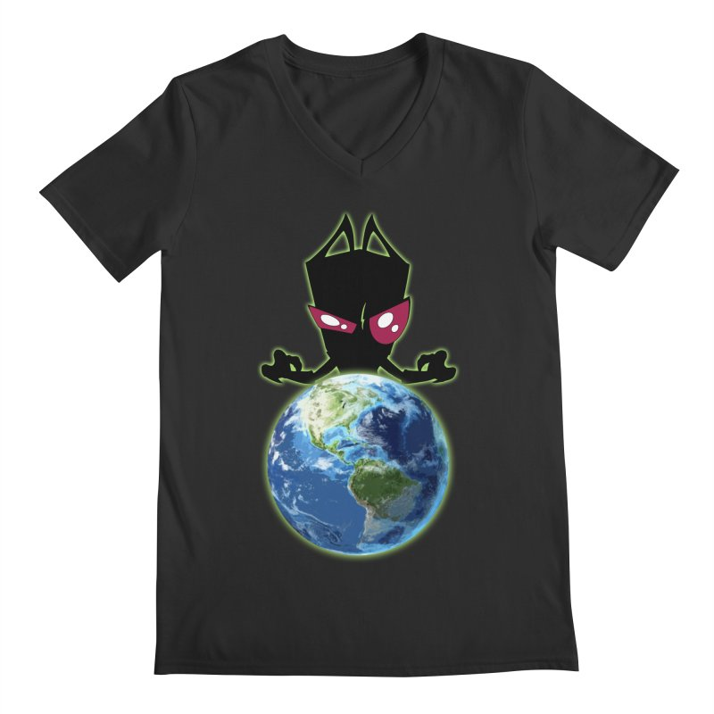 Invader from Planet Irk Men's Regular V-Neck by proxishdesigns's Artist Shop