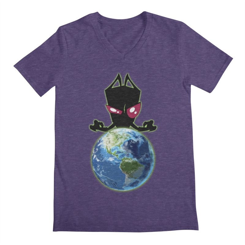 Invader from Planet Irk Men's V-Neck by proxishdesigns's Artist Shop