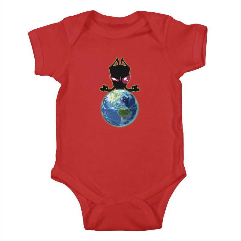 Invader from Planet Irk Kids Baby Bodysuit by proxishdesigns's Artist Shop