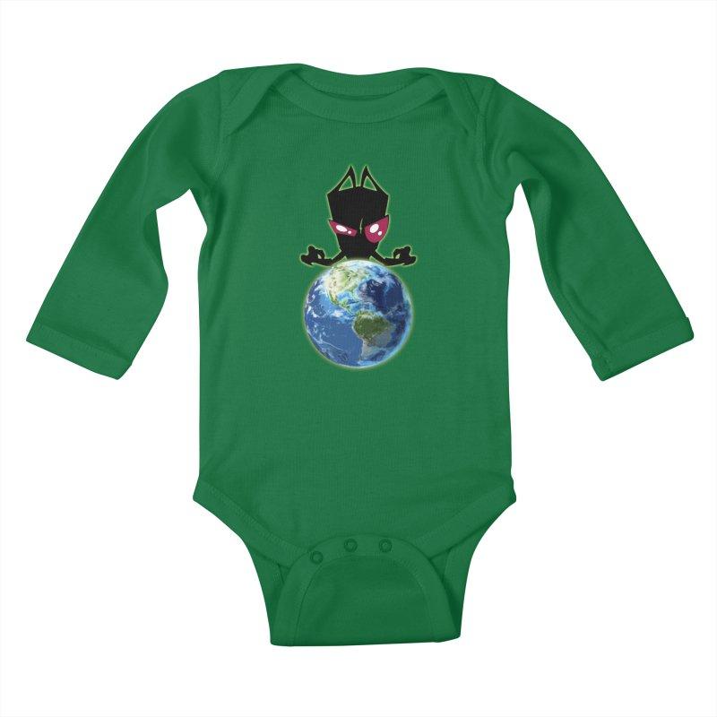 Invader from Planet Irk Kids Baby Longsleeve Bodysuit by proxishdesigns's Artist Shop