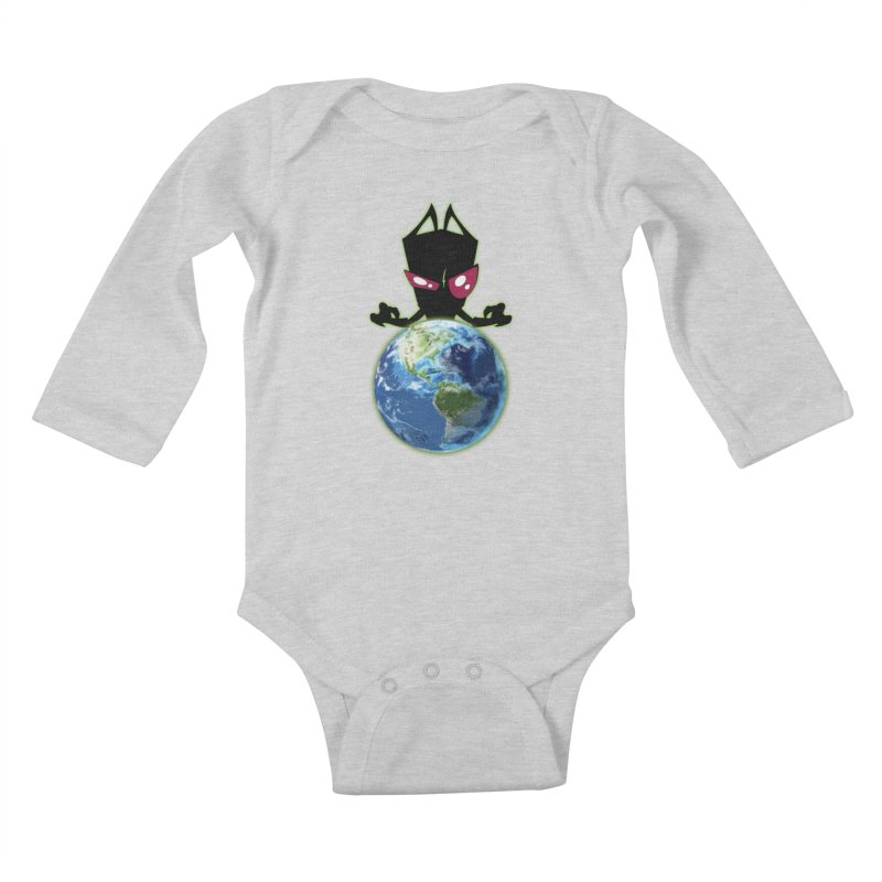 Invader from Planet Irk Kids Baby Longsleeve Bodysuit by proxishdesigns's Artist Shop