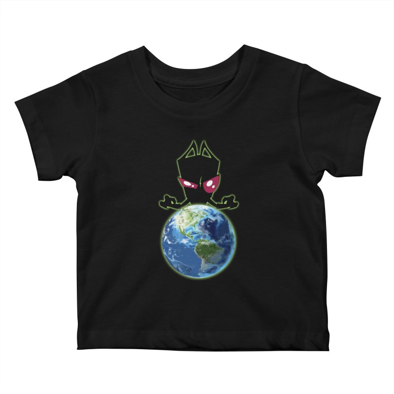 Invader from Planet Irk Kids Baby T-Shirt by proxishdesigns's Artist Shop