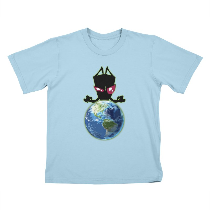 Invader from Planet Irk Kids T-shirt by proxishdesigns's Artist Shop