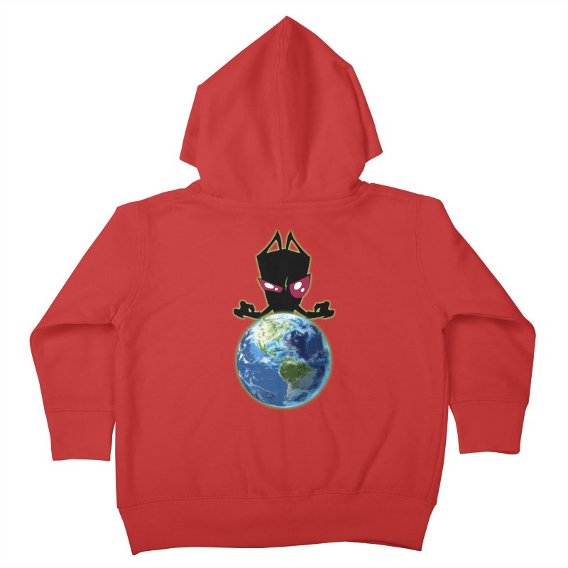 Invader from Planet Irk Kids Toddler Zip-Up Hoody by proxishdesigns's Artist Shop