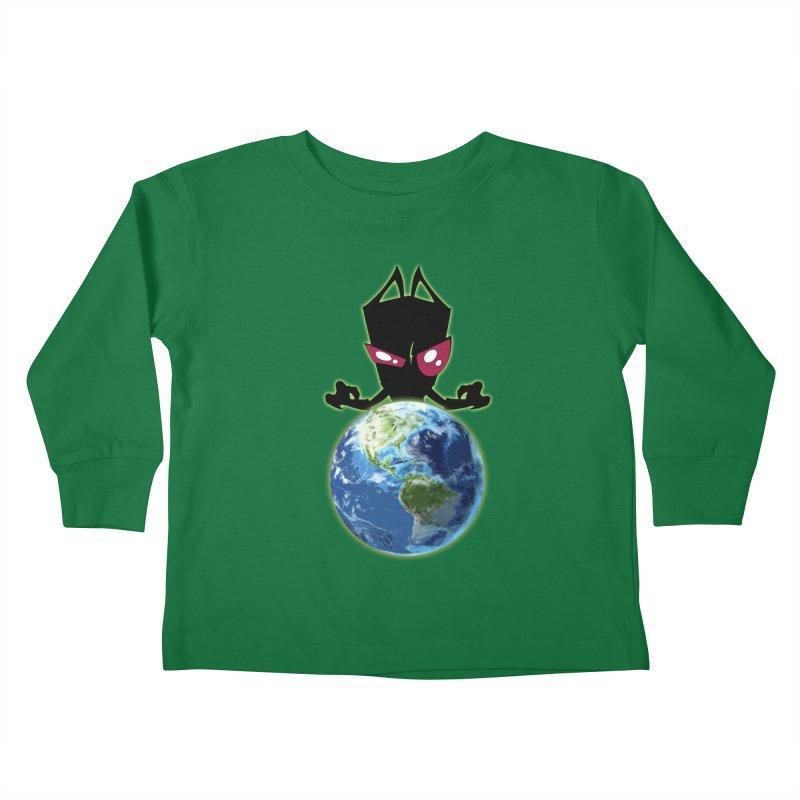 Invader from Planet Irk Kids Toddler Longsleeve T-Shirt by proxishdesigns's Artist Shop