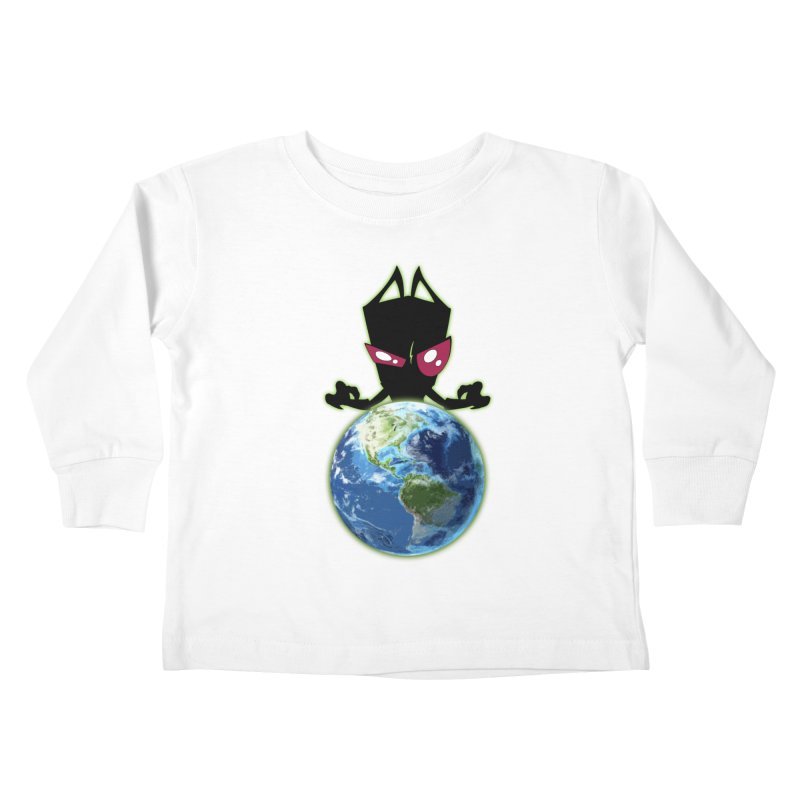 Invader from Planet Irk Kids Toddler Longsleeve T-Shirt by proxishdesigns's Artist Shop
