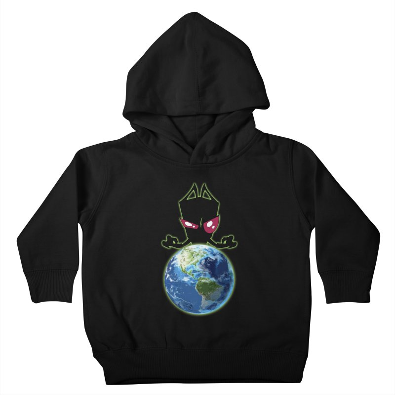 Invader from Planet Irk Kids Toddler Pullover Hoody by proxishdesigns's Artist Shop