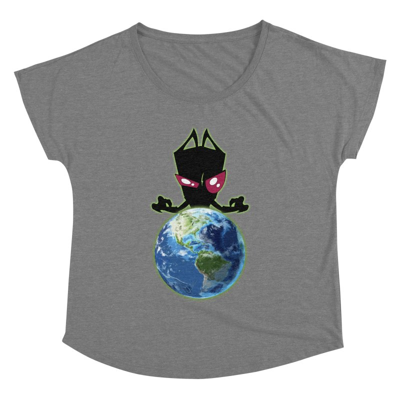 Invader from Planet Irk Women's Dolman Scoop Neck by proxishdesigns's Artist Shop