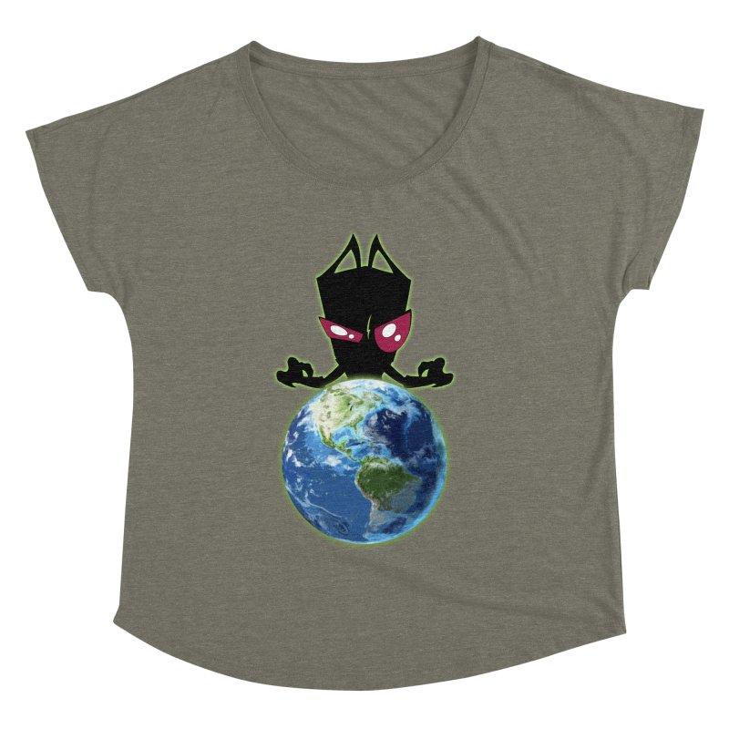 Invader from Planet Irk Women's Dolman Scoop Neck by proxishdesigns's Artist Shop