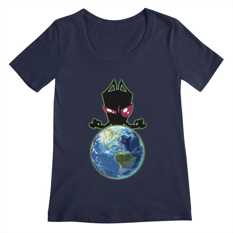 Invader from Planet Irk Women's Scoopneck by proxishdesigns's Artist Shop