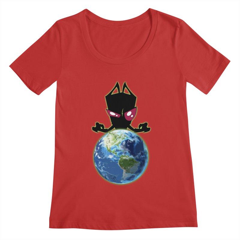 Invader from Planet Irk Women's Regular Scoop Neck by proxishdesigns's Artist Shop