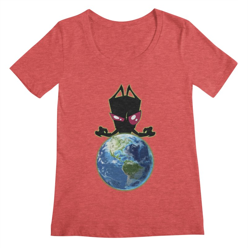Invader from Planet Irk Women's Regular Scoop Neck by proxishdesigns's Artist Shop