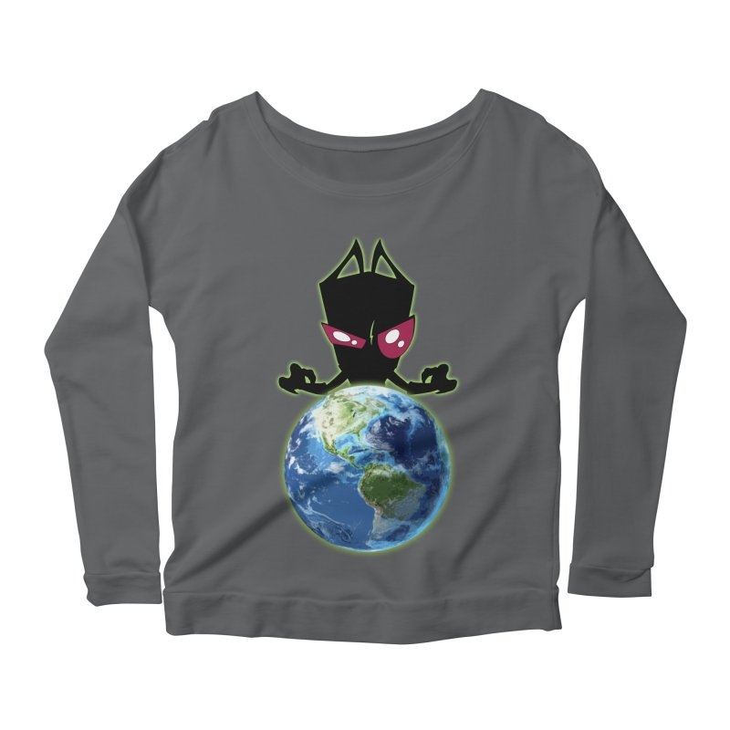 Invader from Planet Irk Women's Scoop Neck Longsleeve T-Shirt by proxishdesigns's Artist Shop