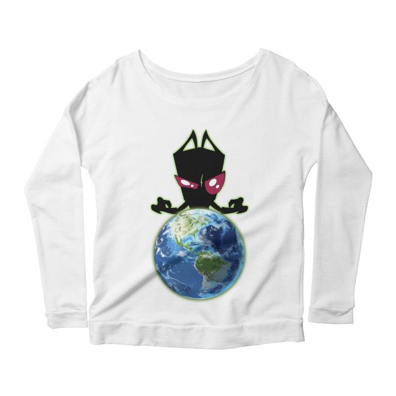 Invader from Planet Irk Women's Scoop Neck Longsleeve T-Shirt by proxishdesigns's Artist Shop