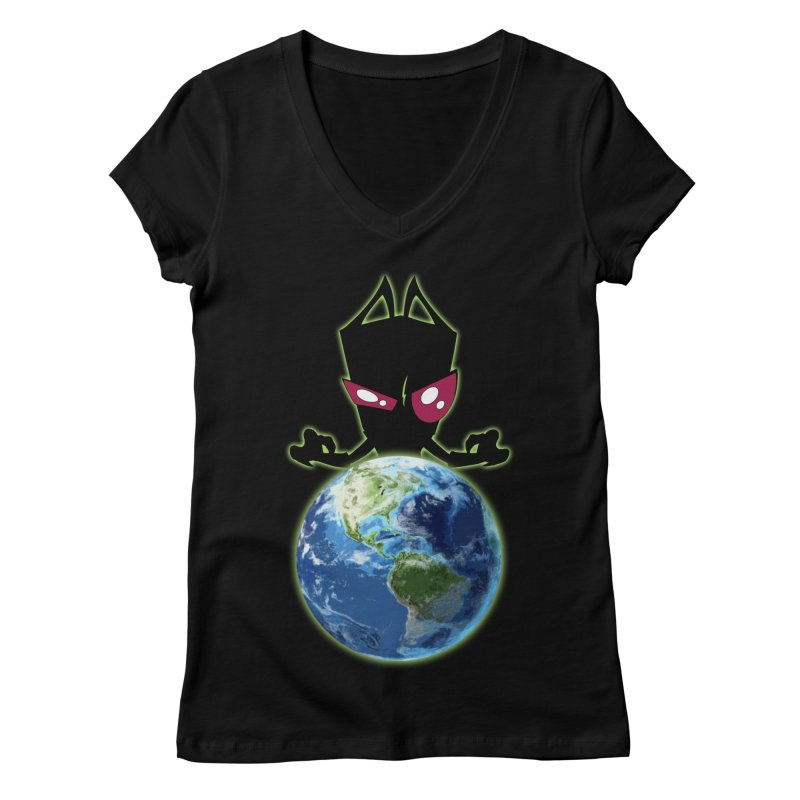 Invader from Planet Irk Women's V-Neck by proxishdesigns's Artist Shop