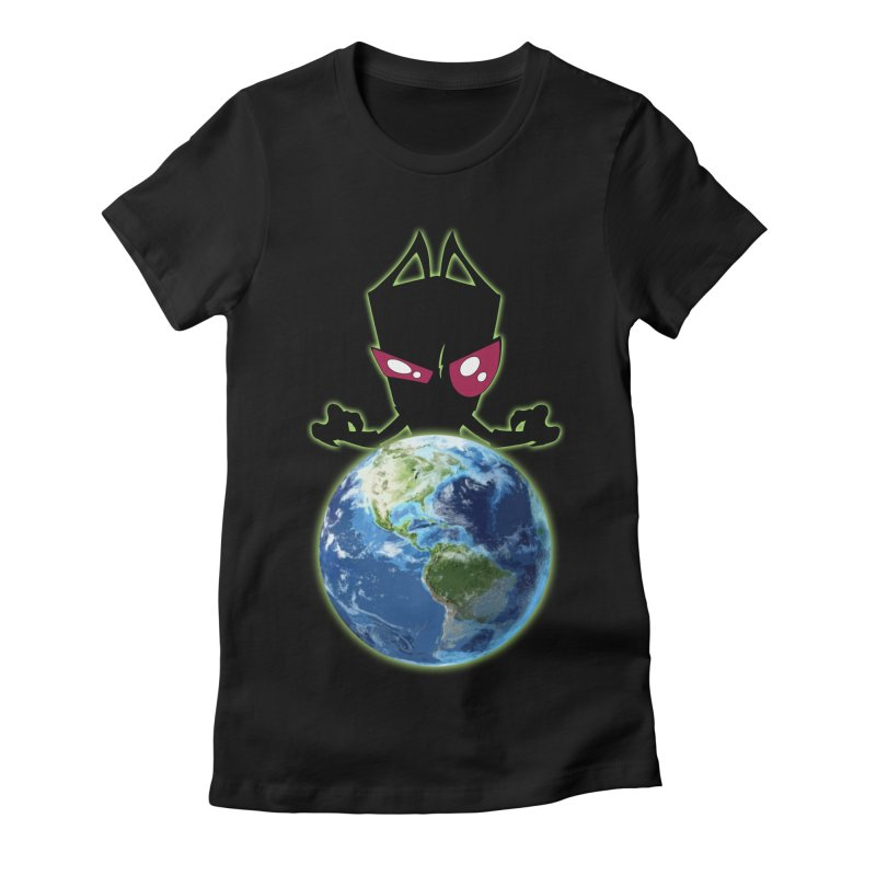Invader from Planet Irk Women's Fitted T-Shirt by proxishdesigns's Artist Shop