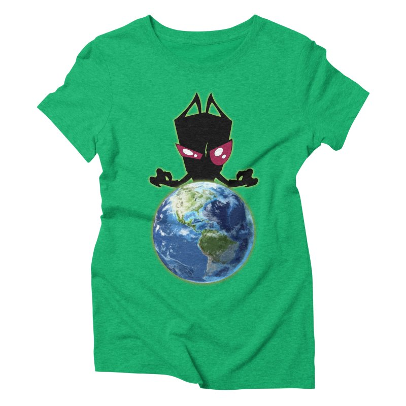 Invader from Planet Irk Women's Triblend T-shirt by proxishdesigns's Artist Shop