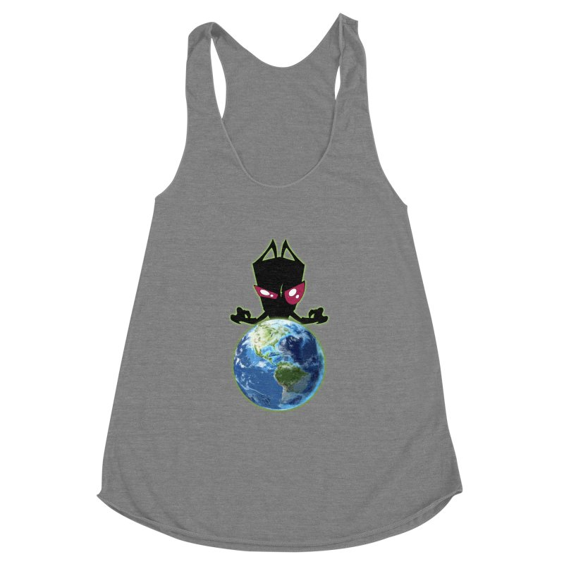 Invader from Planet Irk Women's Racerback Triblend Tank by proxishdesigns's Artist Shop