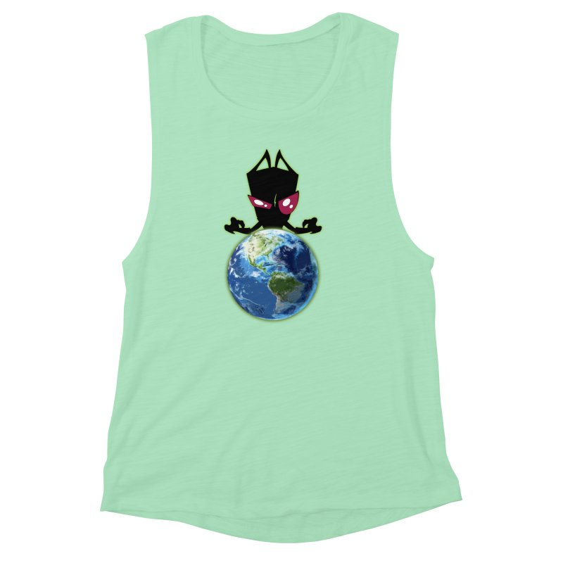 Invader from Planet Irk Women's Muscle Tank by proxishdesigns's Artist Shop