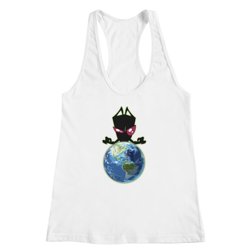 Invader from Planet Irk Women's Racerback Tank by proxishdesigns's Artist Shop