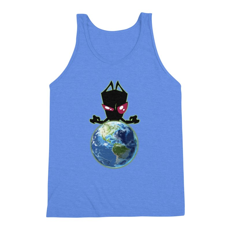 Invader from Planet Irk Men's Triblend Tank by proxishdesigns's Artist Shop