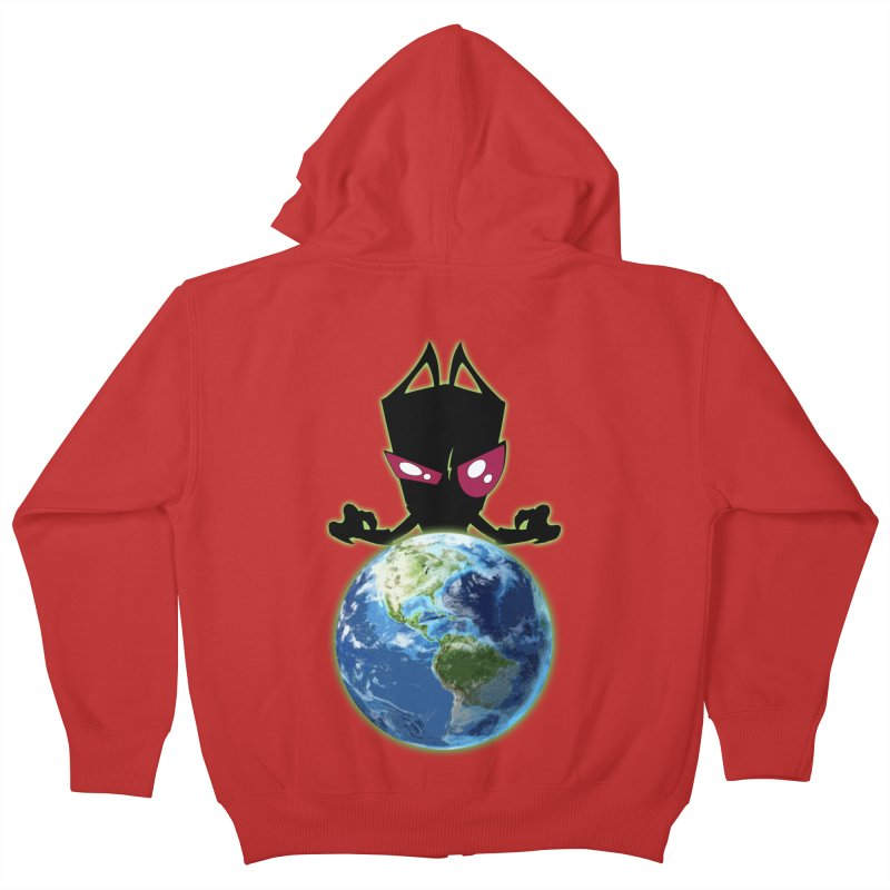 Invader from Planet Irk Kids Zip-Up Hoody by proxishdesigns's Artist Shop