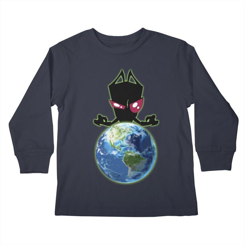 Invader from Planet Irk Kids Longsleeve T-Shirt by proxishdesigns's Artist Shop
