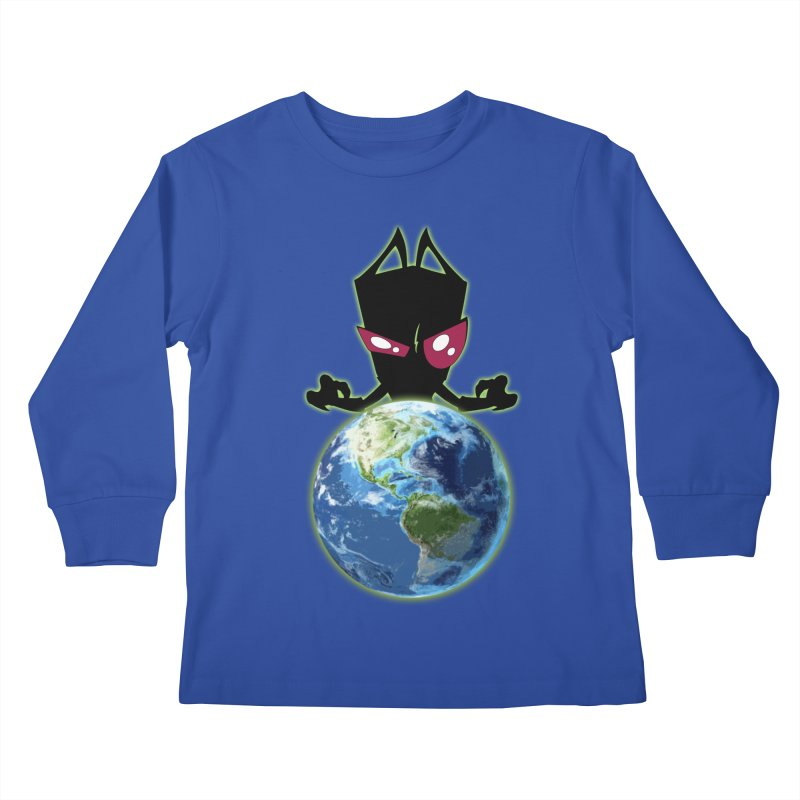 Invader from Planet Irk Kids Longsleeve T-Shirt by proxishdesigns's Artist Shop