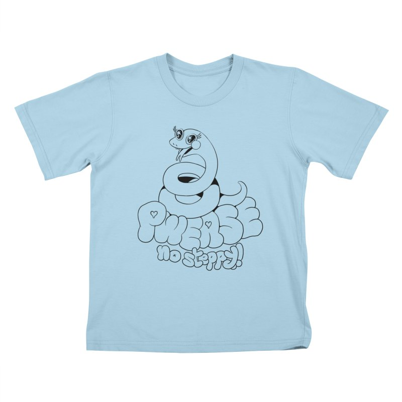 pwease no steppy! Kids T-shirt by Pseudonym Jones and the Amazing T-Shirt Caper