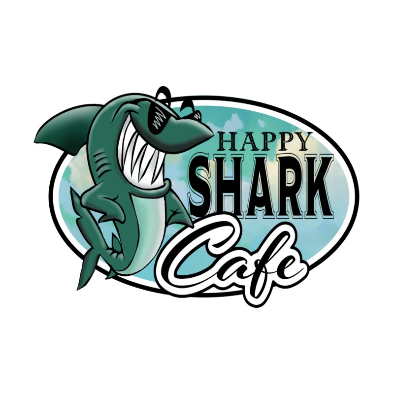 Happy Shark Cafe by psweetsdesign's Artist Shop